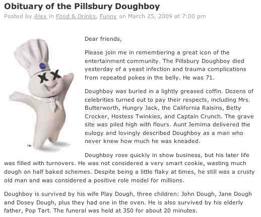 funny doughboy pillsbury obituary math really